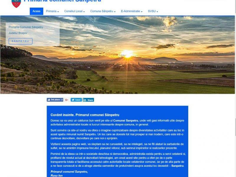 Website Primăria comunei Sânpetru